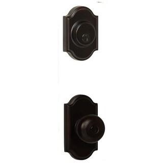 Weslock 1740I-1771 Single Cylinder Keyed Entry Impresa Door Knob Set and 1771 Deadbolt Combo Pack with Premiere Rosette From The