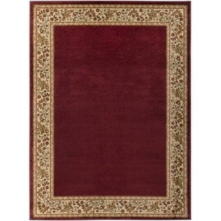 Surya MID4740-2233 Midtown 2' x 3' Rectangle Polypropylene Power Loomed Traditio - Red