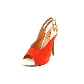 Luxury Rebel Jag Women Open-Toe Suede Slingback Sandal
