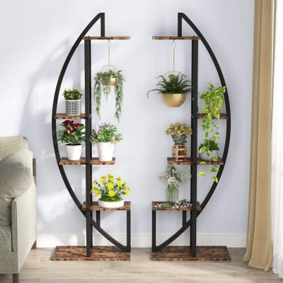 5-Tier Plant Stand Pack of 2, Display Shelf Flower Rack for Home Garden