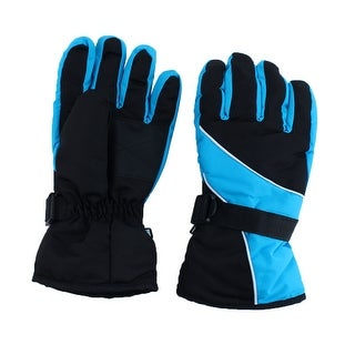 Motorcycle Climbing Winter Snowmobile Ski Gloves Athletic Mitten Light Blue Pair