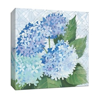 "PTM Images 9-152500  PTM Canvas Collection 12"" x 12"" - ""Decorative Hydrangea II"" Giclee Hydrangeas Art Print on Canvas"