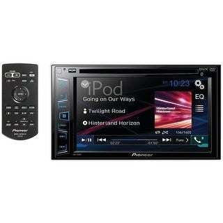 "PIONEER AVH-190DVD 6.2"" Double-DIN In-Dash DVD Receiver with WVGA Clear-Resistive Touchscreen"