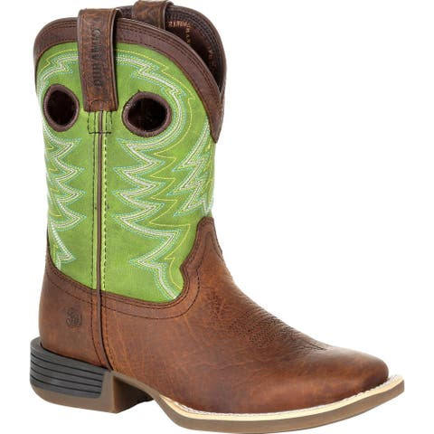 Durango® Lil' Rebel Pro Big Kid's Lime Western Boot, #DBT0221Y