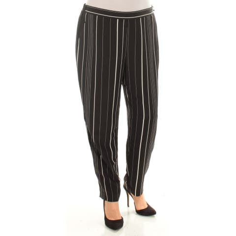 VINCE CAMUTO Womens New 1156 Black White Striped Skinny Casual Pants L