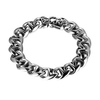 Miami Cuban Link Designer Bracelet Stainless Steel 14mm Custom Style
