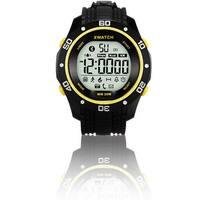 Indigi® Waterproof Bluetooth 4.0 Sports X-Watch + Call & SMS Notification + Pedometer + 1 Year Battery Life (Yellow)