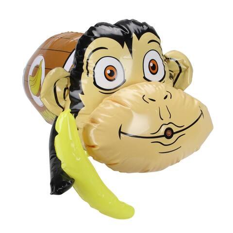 "20"" Inflatable Monkey in Banana Barrel Water Blaster"