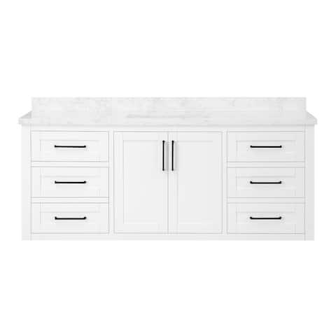OVE Decors Ellery 60 in. Single Sink Bathroom Vanity in White