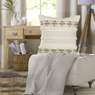 Link to Tufted Multicolored Farmhouse Throw Pillow Similar Items in Decorative Accessories