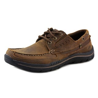 Skechers Expected Gembel Moc Toe Leather Boat Shoe