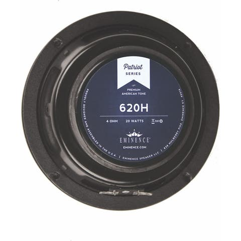 The Little Brother To The 820H, The 620H Is A Four Ohm Hemp Cone Speaker W/Warm, Full, & Clean Tone