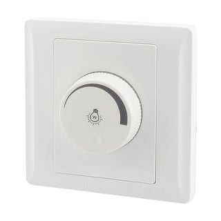 40-150W White Plastic Rotary Switch Light Control Dimmer Switch AC 150-250V