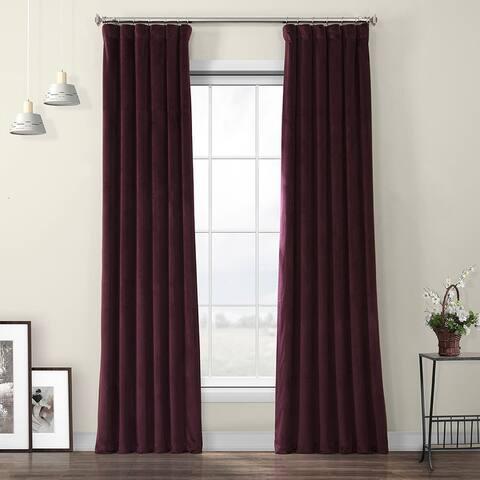 Porch & Den Riedweg Plush Velvet Curtain