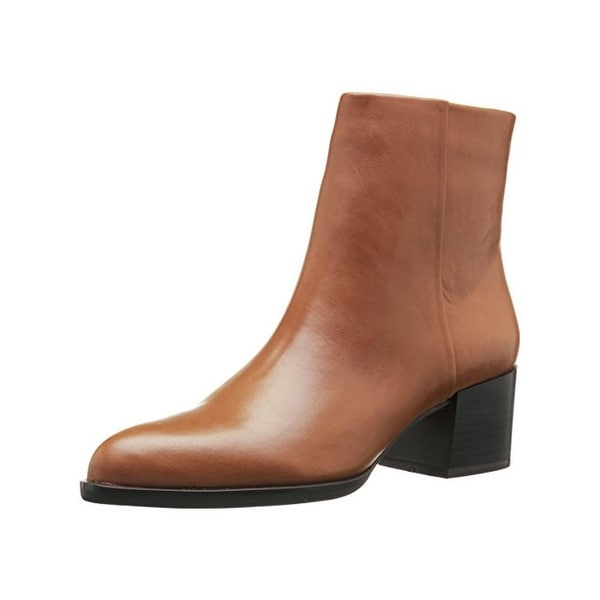 cd2eb5bc66d2 Shop Sam Edelman Womens Joey Ankle Boots Leather Stacked Heel - Free ...