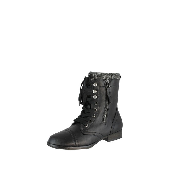 Madden Girl Womens Alibii Fashion Combat Military Boots
