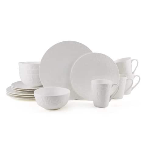 Mikasa Sadie White 16PC Bone China Dinnerware Set