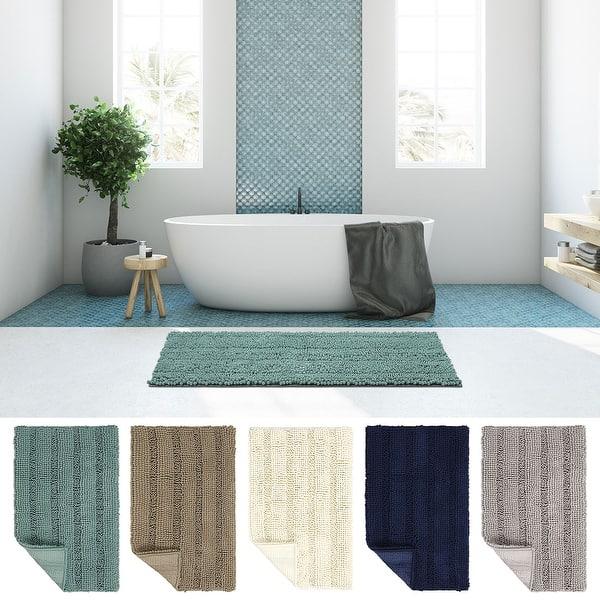 Soft Microfiber Shaggy Non Slip Absorbent Bath Mat Bathroom Shower Rug Carpet US