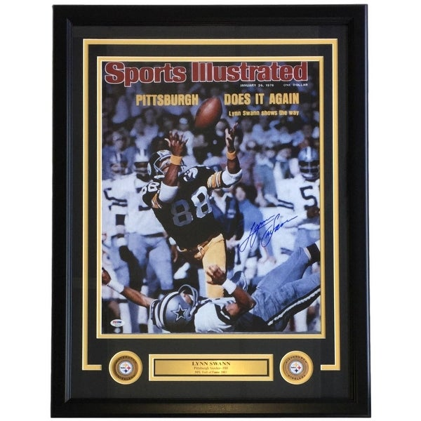 d7e3aaa64 Shop Lynn Swann Signed Framed 16x20 Pittsburgh Steelers SI Cover Photo  PSA+SI COA - Free Shipping Today - Overstock - 22395165