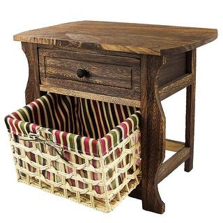 Link to DL-Furniture - Fully Assembled Night Stand With Basket Extra Storage  Similar Items in Bedroom Furniture