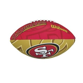 Wilson NFL Junior Football (San Francisco 49ers Color/Logo) - Red