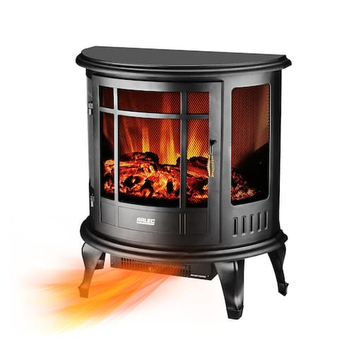 """Ainfox 22"""" Fireplace Stove Space Heater ,Freestanding Portable Electric Log Flame Realistic Flame Effect"""