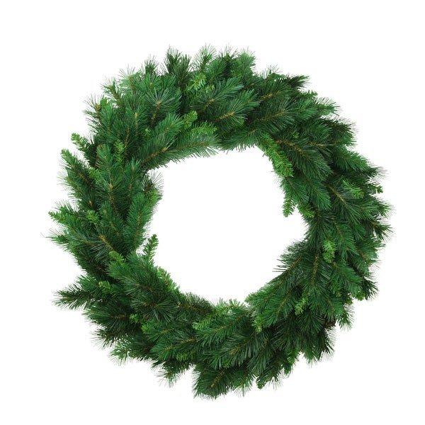 """30"""" Imperial Majestic Mixed Pine Artificial Christmas Wreath - Unlit"""