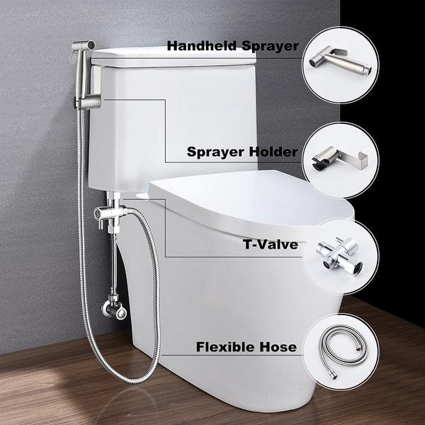 Shop Handheld Bidet Sprayer Bathroom Cloth Diaper Sprayer Kit 8 X 10 Overstock 31969864