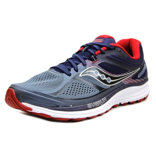 Saucony Guide 10 Men Round Toe Synthetic Gray Running Shoe