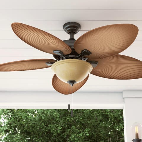 Honeywell Palm Valley 52-inch Bronze Tropical LED Ceiling Fan