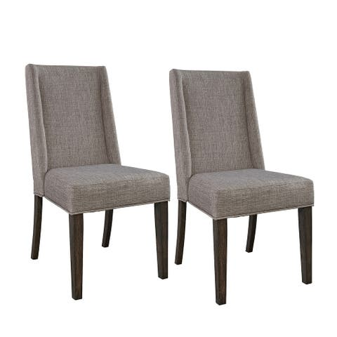 Double Bridge Dark Chestnut Upholstered Side Chair (Set of 2)