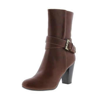 Chinese Laundry Womens Chelsie Faux Leather Belted Ankle Boots - 6 medium (b,m)