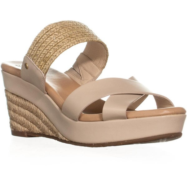7c479cb3ade Shop UGG Adriana Wedge Mule Sandals, Horchata - 9 US / 40 EU - On ...