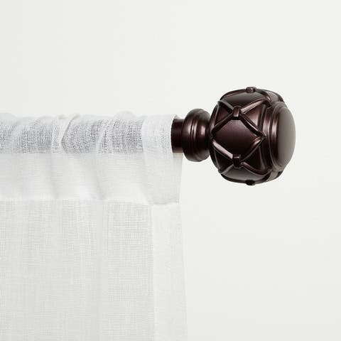 ATI Home Clancy Window Curtain Rod and Finial Set