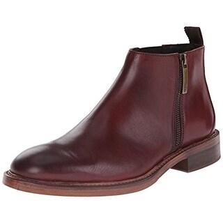 Donald J. Pliner Mens Zeus Leather Round Toe Chelsea Boots - 10 medium (d)