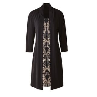 Women's Coat Dress- Long Faux Two-Piece Jacket & Dress - Black & Beige- Plus Size|https://ak1.ostkcdn.com/images/products/is/images/direct/0ecf81739e170b626c311ad01ea38db1de3370e9/Women%27s-Coat-Dress--Long-Faux-Two-Piece-Jacket-%26-Dress---Black-%26-Beige--Plus-Size.jpg?impolicy=medium