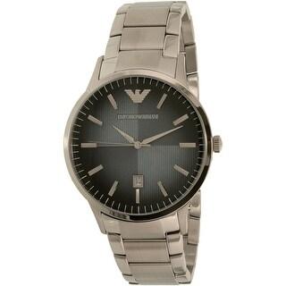 Emporio Armani Men's Classic Silver Stainless-Steel Quartz Dress Watch