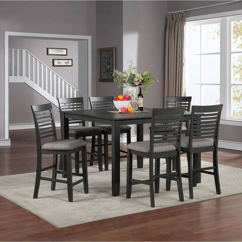 Furniture of America Darry Transitional Grey 7-piece Counter Dining Set