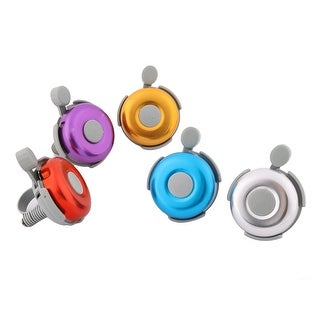 Father  s Day Gift l Bicycle Plastic Round Shape Handlebar Bell Sound Alarm Ring Assorted Color 5 Pcs