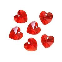 Swarovski Elements Crystal, 6228 Heart Pendants 10mm, 6 Pieces, Light Siam