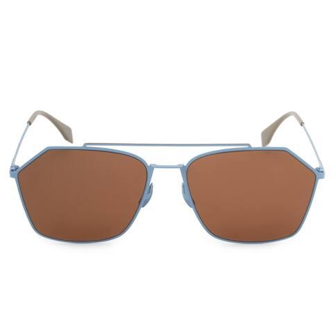 Fendi Eyeline Aviator Sunglasses FFM0022S F MVU 70 59 - 59mm x 17mm x 150mm