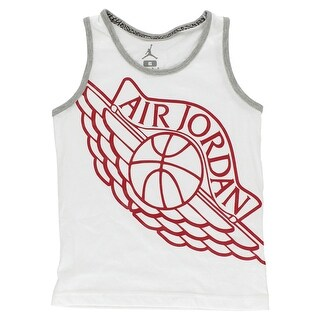 Jordan Boys Wings Tank Top White - white/grey/red - 6