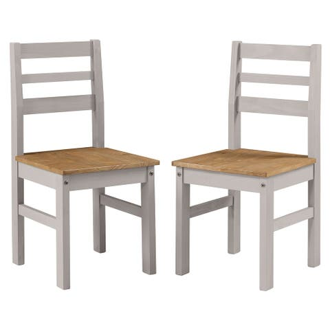 Solid Wood Dining Chair (Set of 2) Corona Collection Furniture Dash