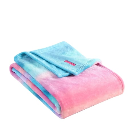 Betsey Johnson Ombre Pink Ultra Soft Plush Throw Blanket