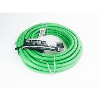 Bold 50' 10/3 AWG SJTW Contractor Grade Lighted Extension Cord, Green