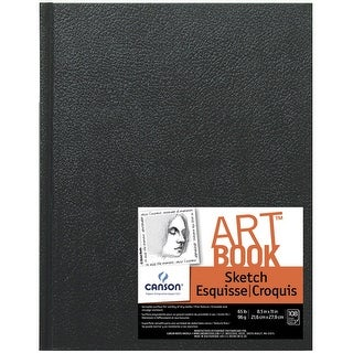 Canson Basic Acid-Free Hardcover Sketchbook, 65 lb, 8-1/2 X 11 in, 108 Sheets, White