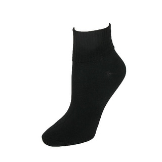 Hanes Women's Plus Size Comfort Collection Cuff Socks (Pack of 5) - One size
