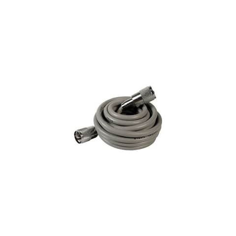 Astatic tm 302-10268 3 rg8x cable with pl259 connectors grey a8x3