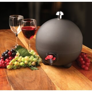 What On Earth Laboul Wine Bag Dispenser - Round Beverage Container with Ice Pack -1.5 Liter to 3 Liter Capacity