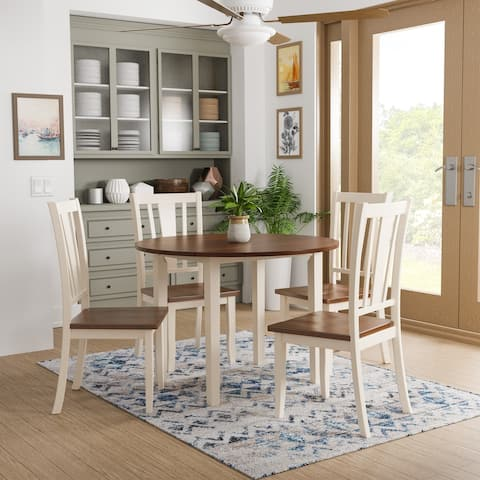 Furniture of America Betsy Jane 5-piece Country Style Round Dining Set